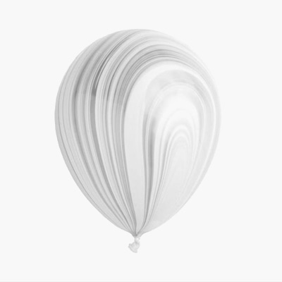Marble pattern baloon