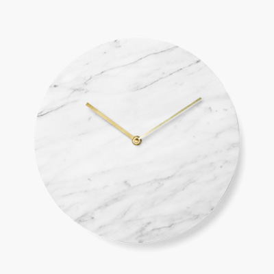White marble clock